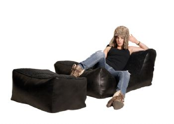 Bonkers Lounger Chair with Stool